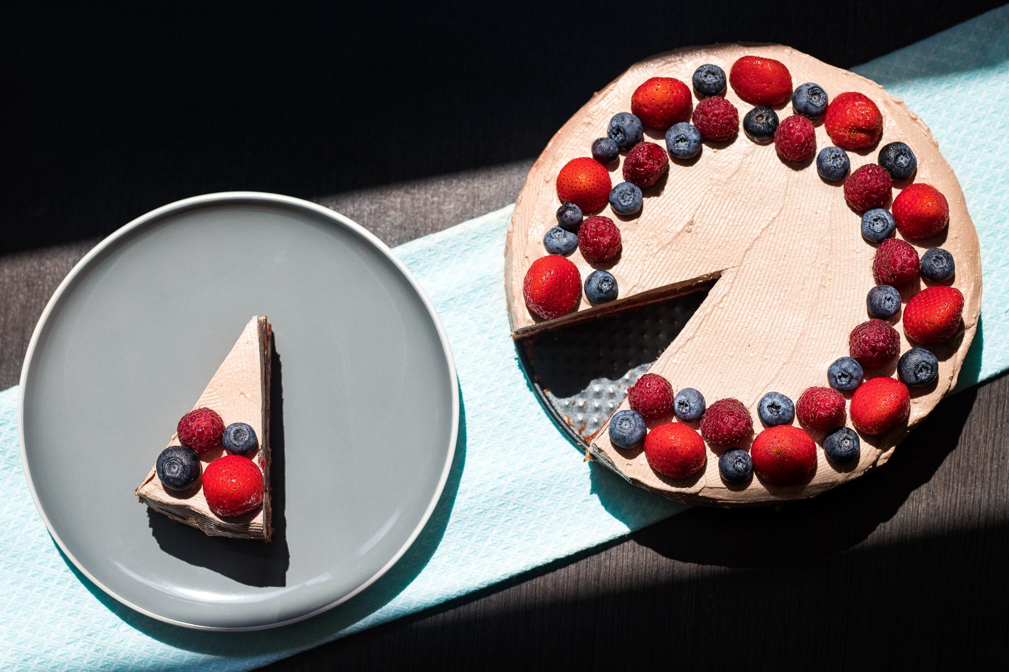 Famózna cviklová torta bez lepku s kakaovo-tvarohovým krémom.