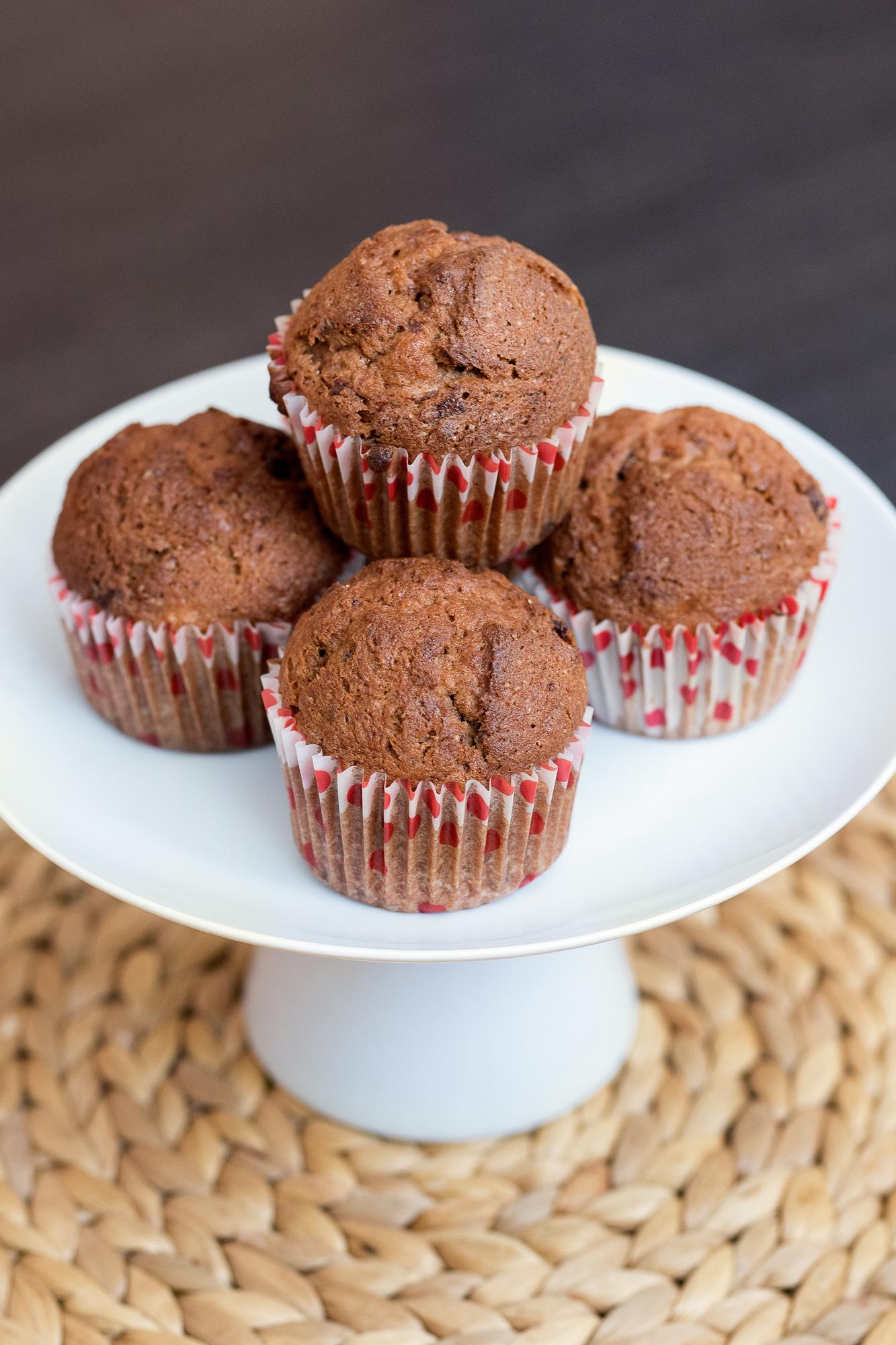 Bezlepkové čokoládové muffiny s banánom a orechmi ženuškáreň