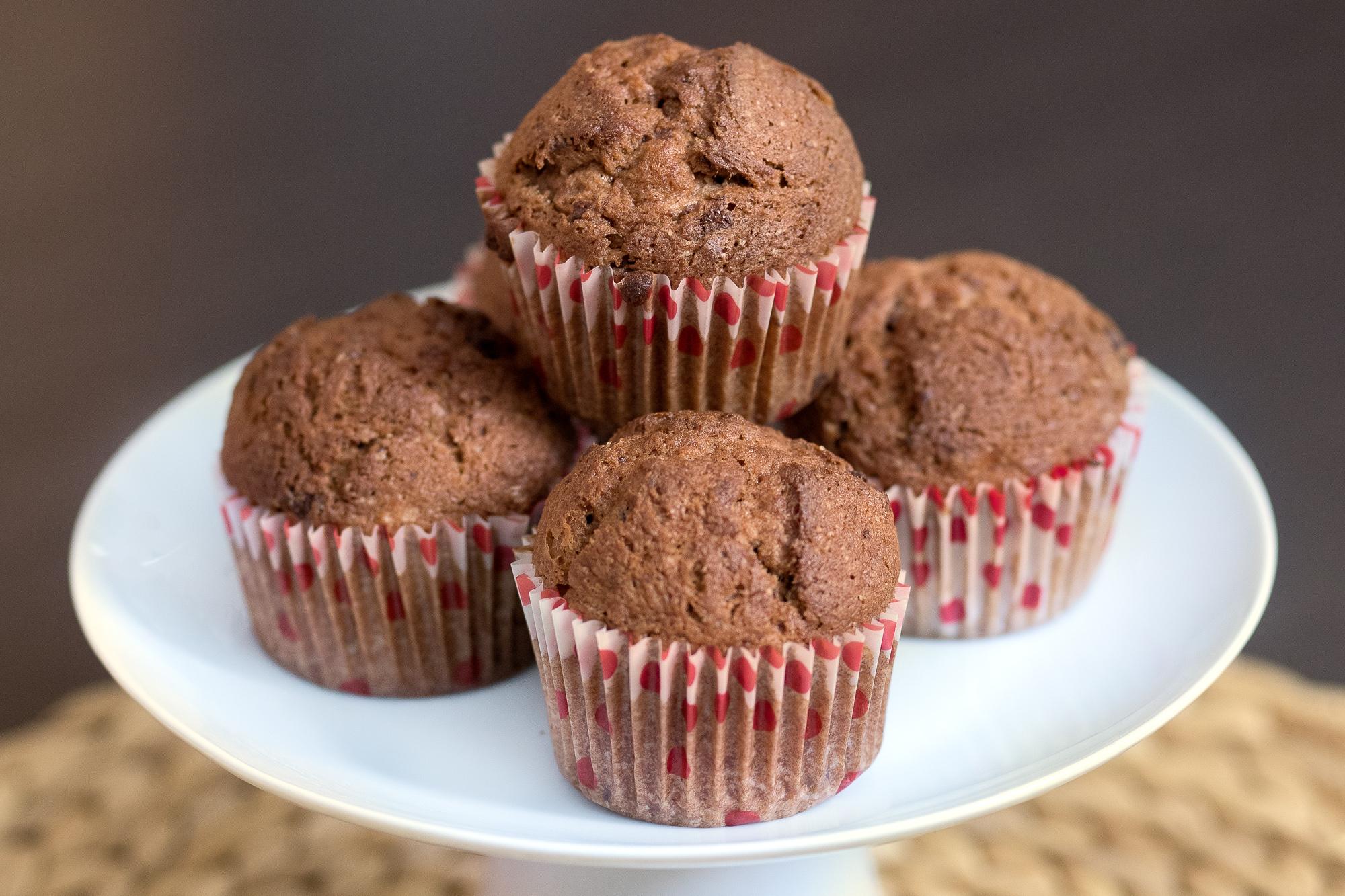 Bezlepkové čokoládové muffiny sbanánom aorechmi