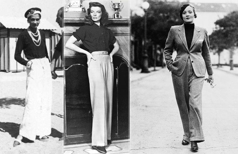 Nesmrteľná kombinácia saka a nohavíc. Pánsky štýl ako prejav ženskej emancipácie