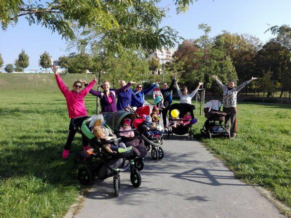 Strollering - cvičenie pre zaneprázdnené mamičky, ktoré na tréningy berú aj svoje deti