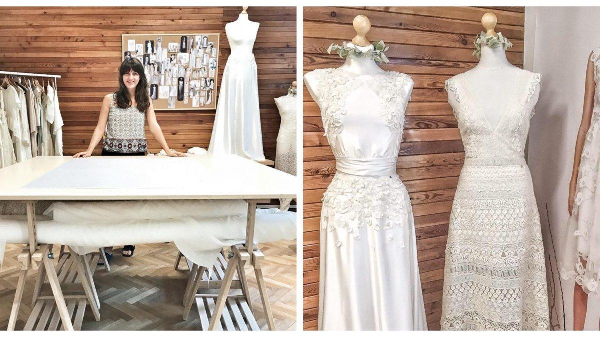 """""""Prvé svadobné šaty som ušila na žiadosť od klientky zo záclony jej starej mamy,"""" spomína dizajnérka eco-friendly svadobných šiat"""