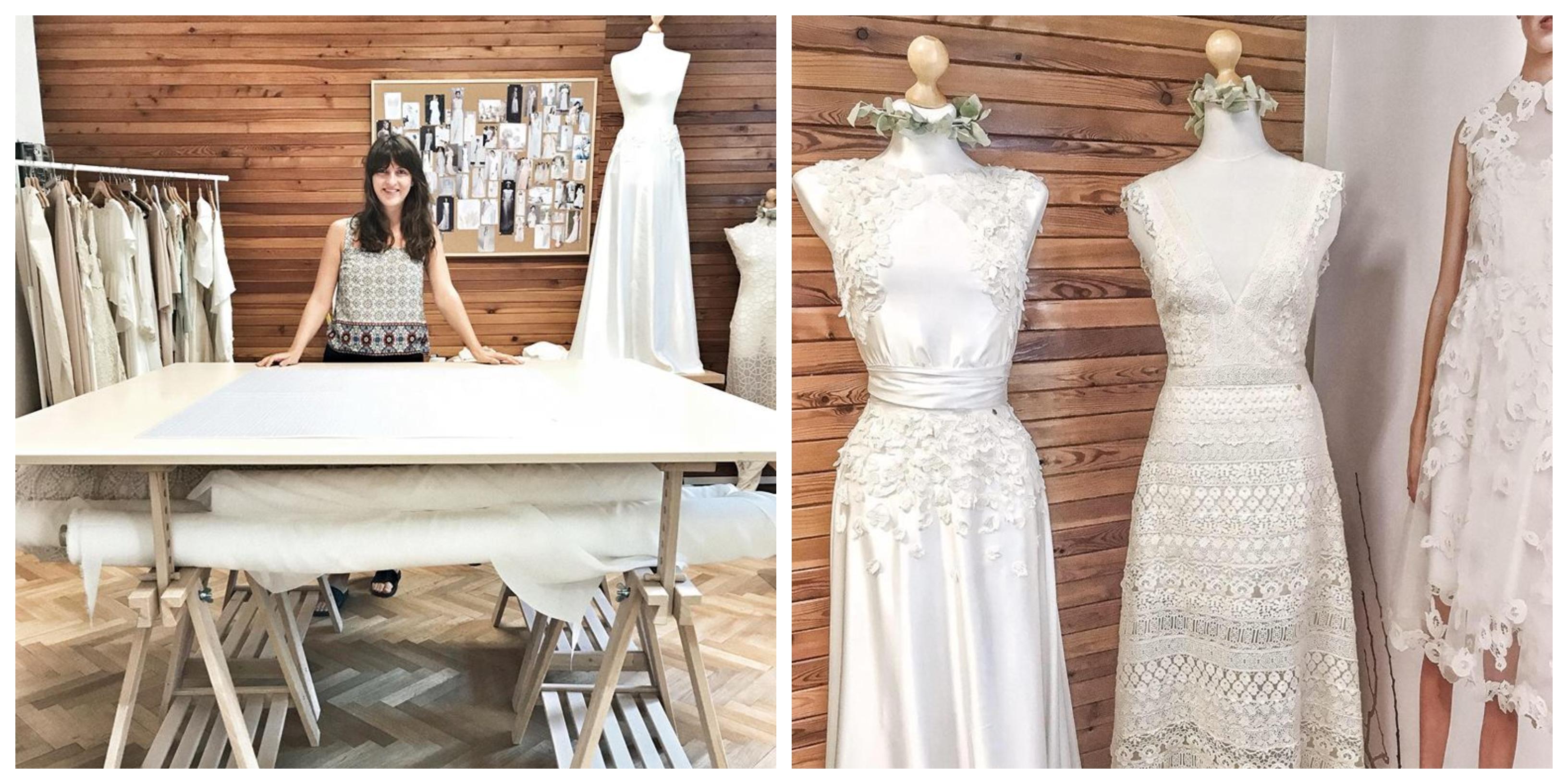 ce28795d1b5c Prvé svadobné šaty som ušila na žiadosť od klientky zo záclony jej ...
